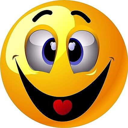 Aufkleber Smiley 20 X 20 Cm Sticker Auto Motorrad Carravan Auto