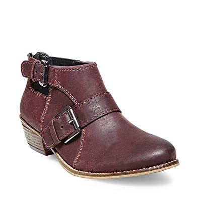 Womens Riskie Leather Cut-Out Booties