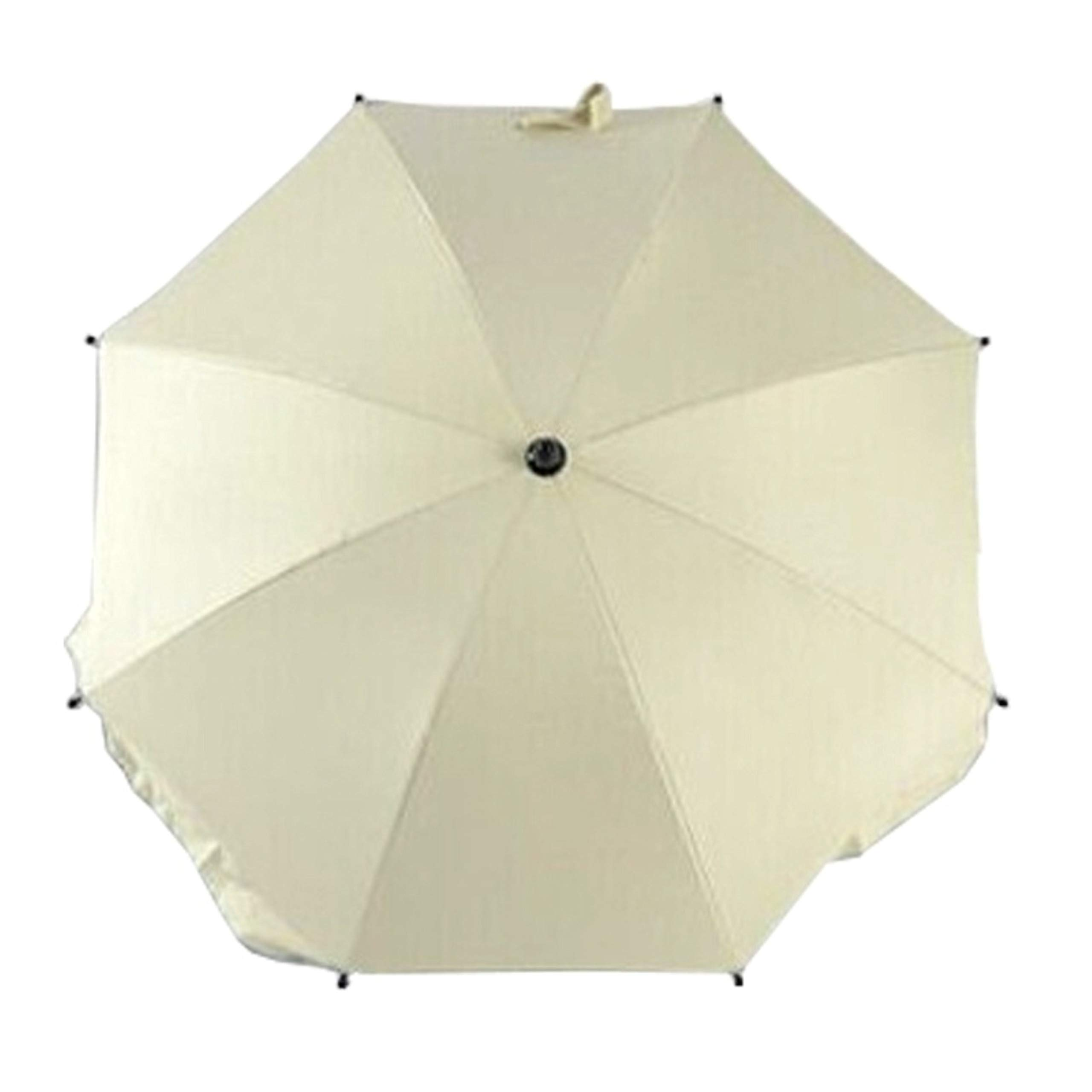 Adjustable Umbrella for Golf Carts, Baby Strollers/Prams and Wheelchairs to Provide Protection from Rain and The Sun(White)