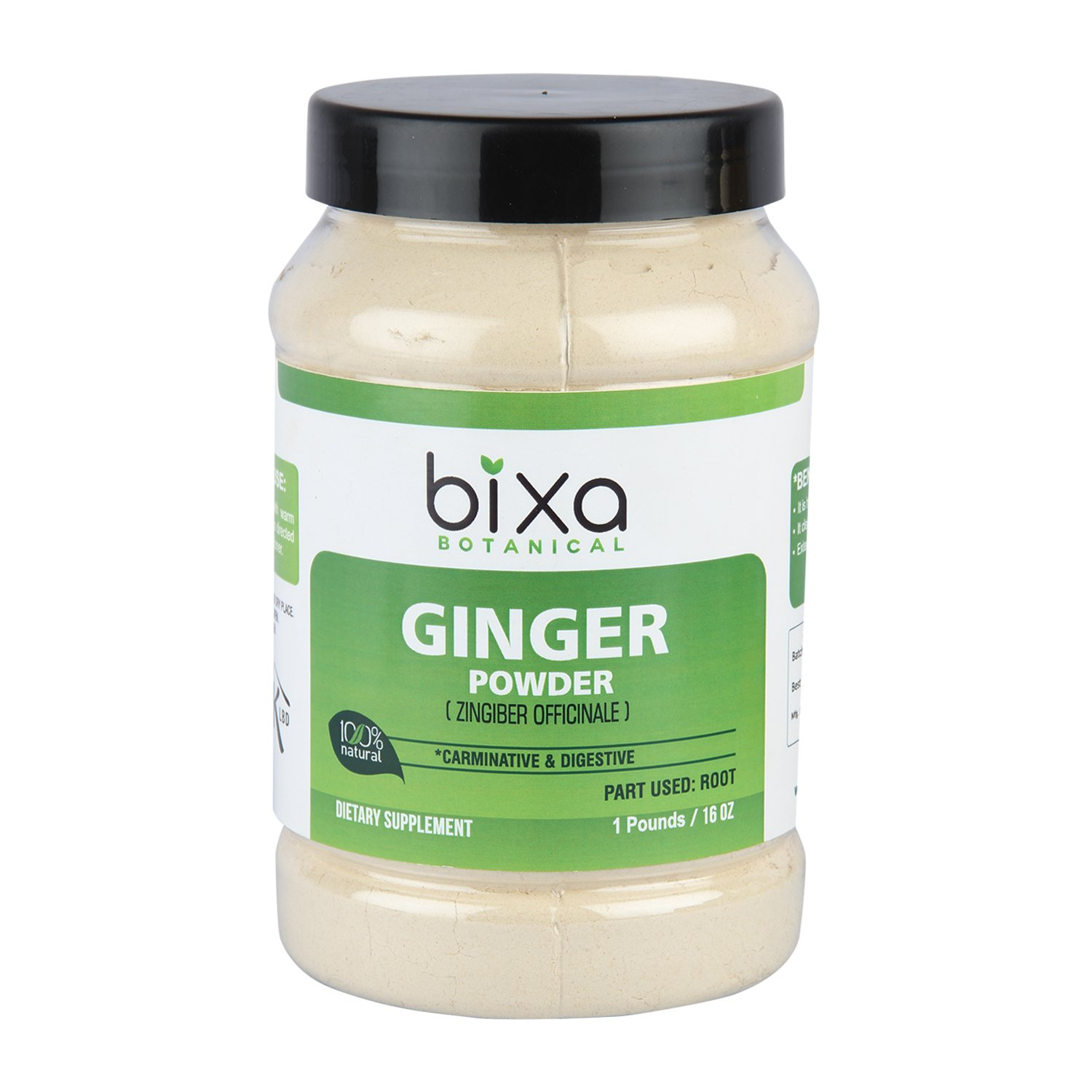 Ginger Powder – 1 Pound (16 Oz) (Zingiber officinale) – Natural Carminative & Digestive Supplement | It Clears Sore Throat and Reduces Cold | Ayurvedic Herb to Reduce Flatulence & spasm of Stomach