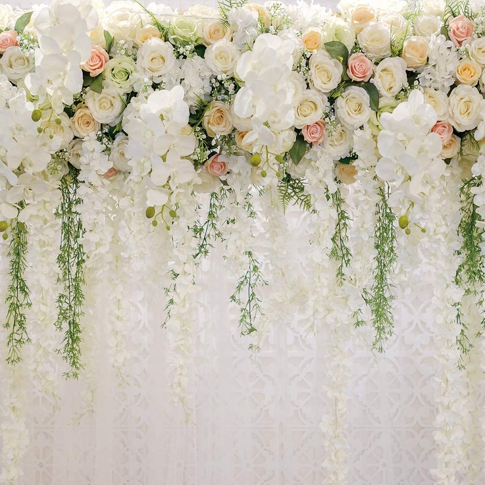 Amazon Com Bridal Shower Square 5x5ft Wedding Floral Wall