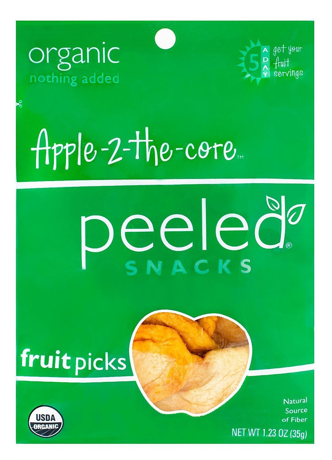 Peeled Fruit Picks - Apple 2 the Core - 1.23 oz - Case of 10