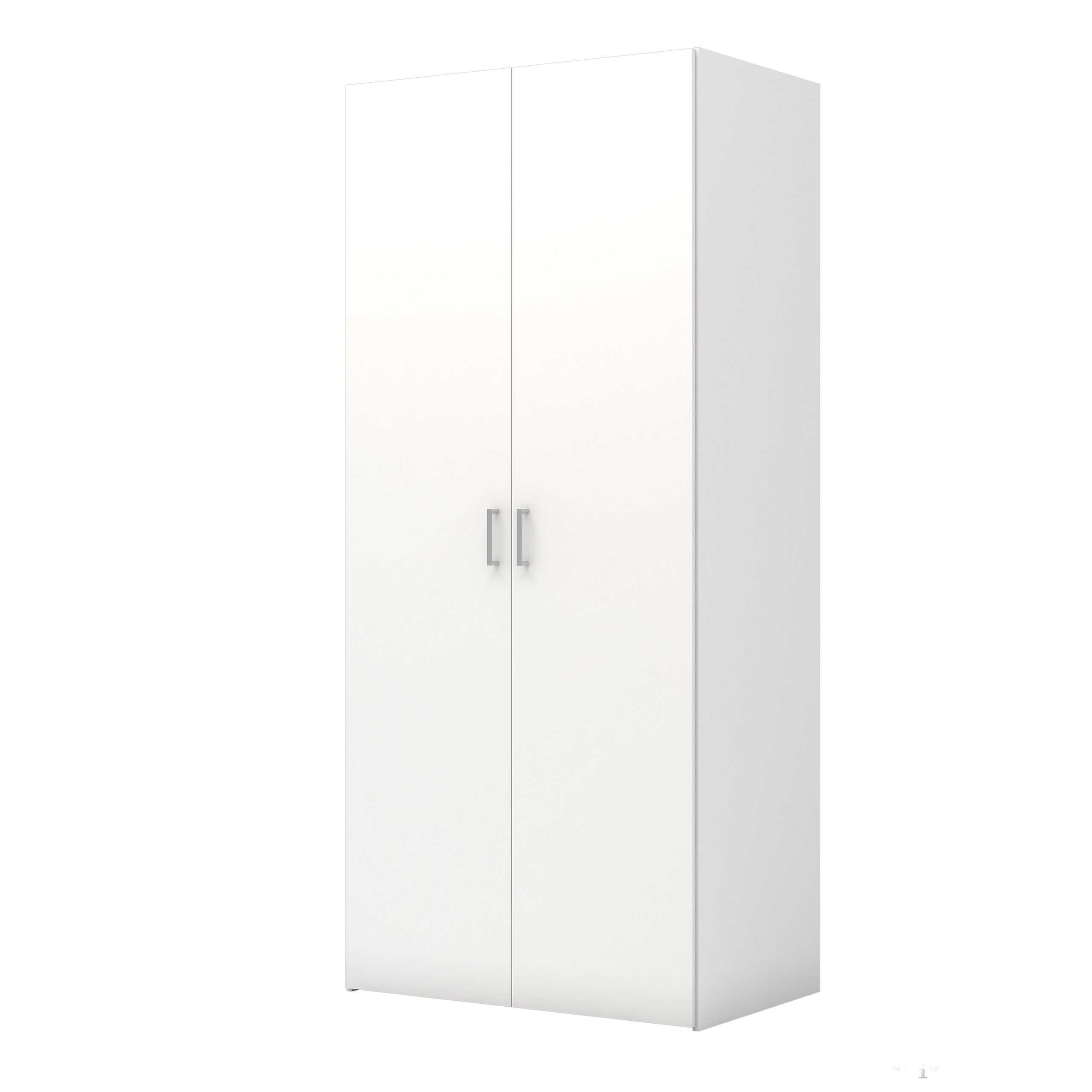 Tvilum 704174949 Space Wardrobe with with 2 Doors, White by Tvilum