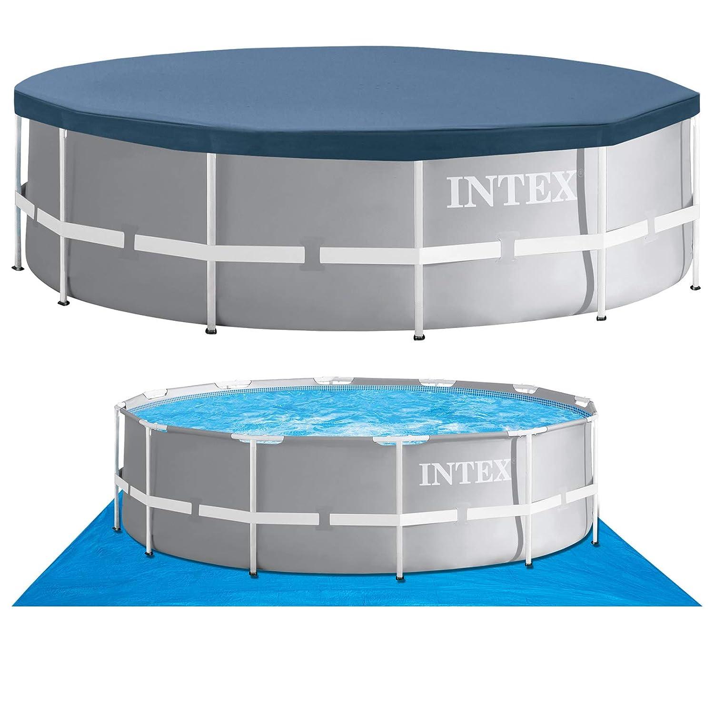 Intex 366x91 Schwimmbecken ohne Gestänge Pool Schwimmbad Frame Metal Stahlwand