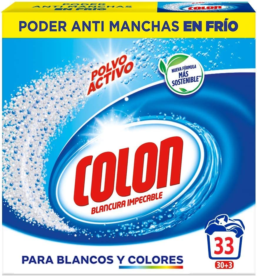 Colon Detergente de Ropa para Lavadora en Polvo Activo - 33 ...