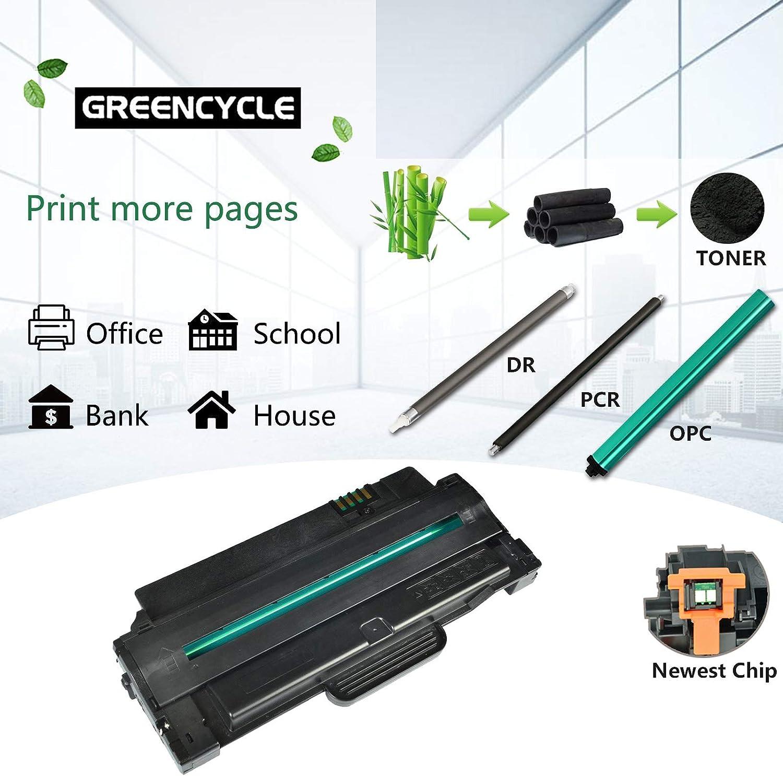 GREENCYCLE 2 Pack Premium MLT-D105L Laser Toner Cartridge Compatible for Samsung SCX-4600 SCX-4623F SCX-4623FW Printers