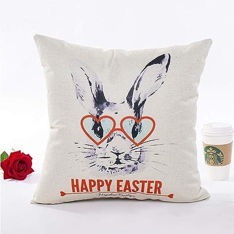 Amazon.com: Watercolor conejo de Pascua con huevo de colores ...
