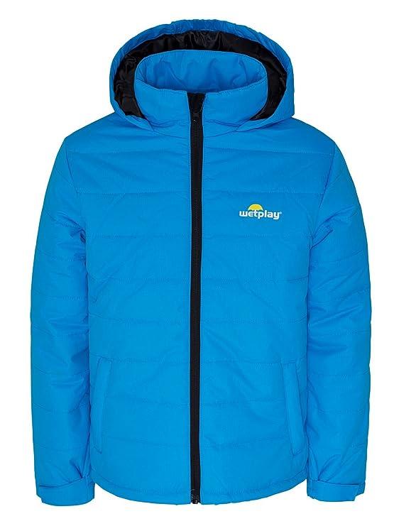 e486451f0 Wetplay Kids Padded Waterproof Jacket Coat Puffa Insulated Childs ...