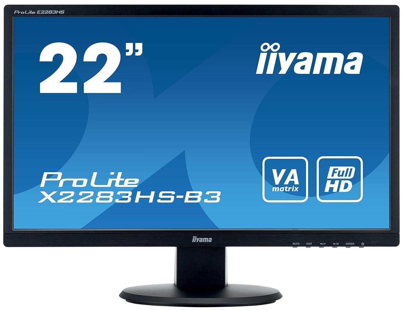 Iiyama X2283HS-B3 Ecran PC 21.5' LED 1920 x 1080 4 ms HDMI/VGA Noir