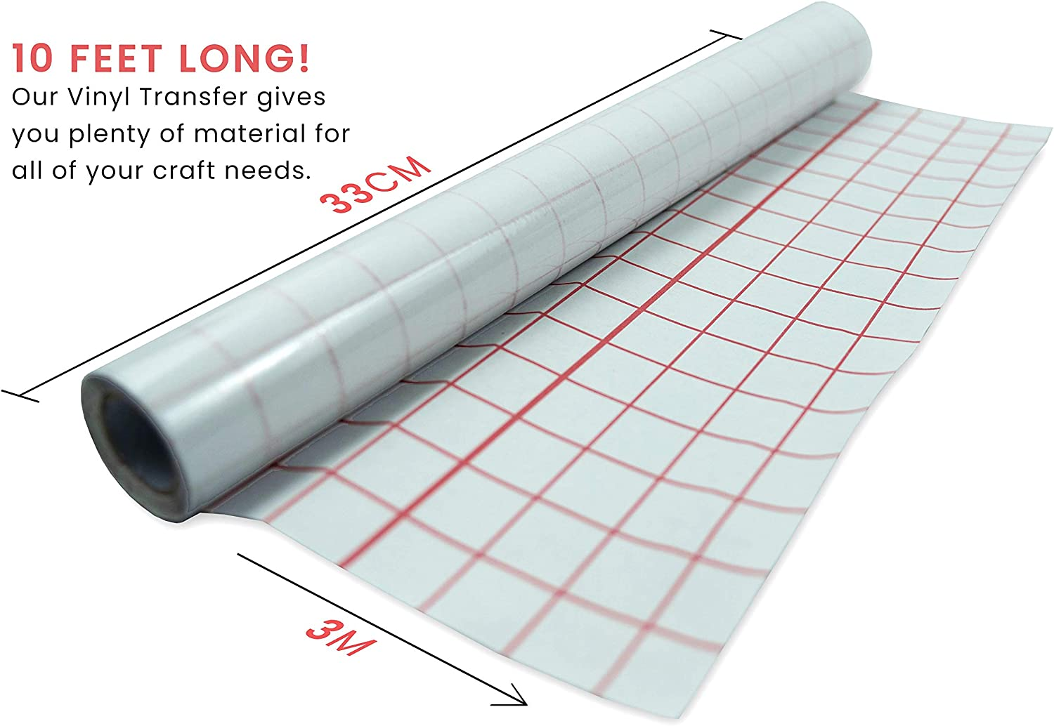 Clear Premier Stationery 50 cm x 5 m Clear Book Cover Film