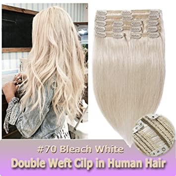 16 Inch/130g Clip in Human Hair Extensions