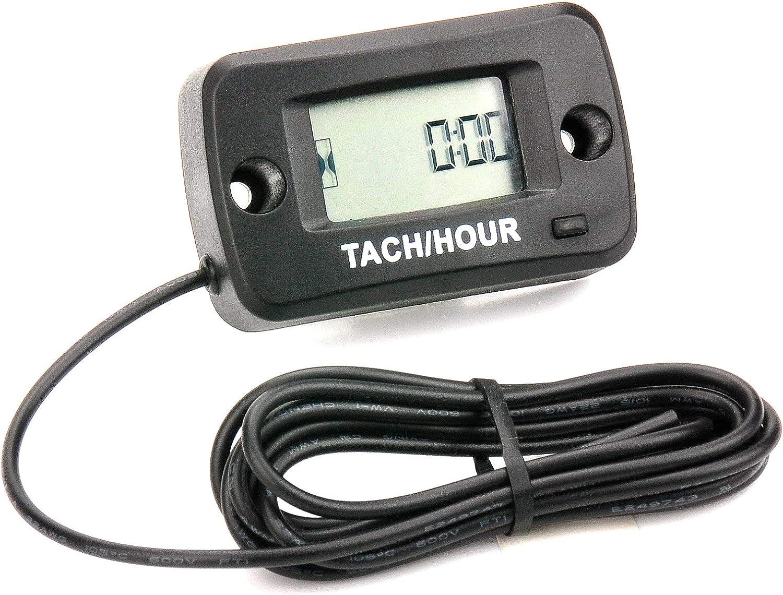 Amazon.com: Tacómetro digital LCD de gasolina resistente al ...