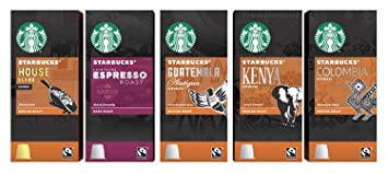 Starbucks Espresso Capsules Compatible with Nespresso Original Line Machines - Variety Assortment 50 Count