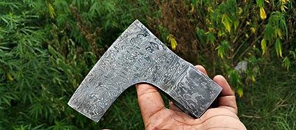 Amazon com : CuttingEUSA Handmade Tomahawk Damascus Steel Blank