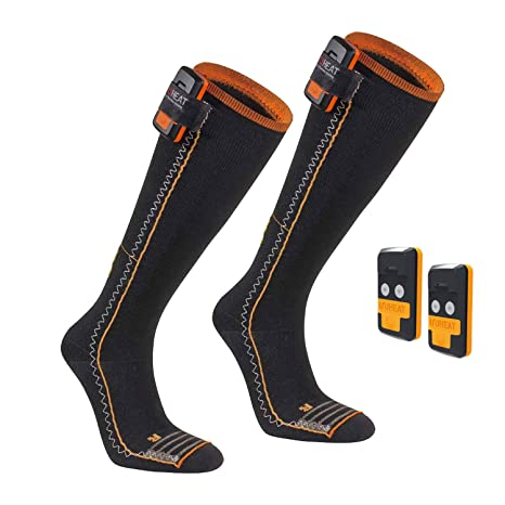 SEGER Unisex 6015028 – 01 – Calcetines de esquí calefactables batería Pack Thin Compression Complete –