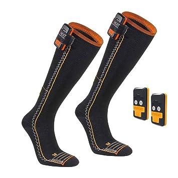 SEGER Unisex 6015028 - 01 - Calcetines de esquí calefactables batería Pack Thin Compression Complete - EU 46 - 48: Amazon.es: Deportes y aire libre