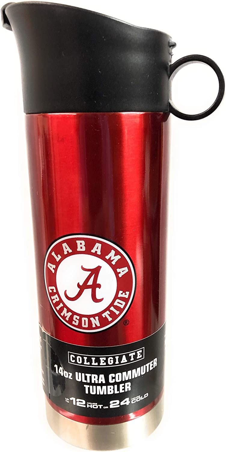 Alabama Crimson Tide Stainless Steel Commuter 14 Ounce Travel Tumbler Coffee Cup