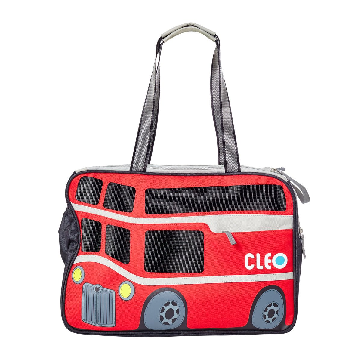 Cleo By Teafco Petobus Airline Approved (18.25'' Medium) Pet Carrier - Carmine Red/Gray