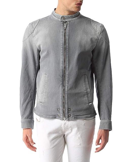 Diesel J-Cliff-E Jeans Hombre Giacca Chaqueta (S, Gris ...
