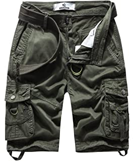 c55bd3a605 FOURSTEEDS Women's Cotton Relaxed Fit Casual Multi-Pocket Bermuda Cargo  Shorts
