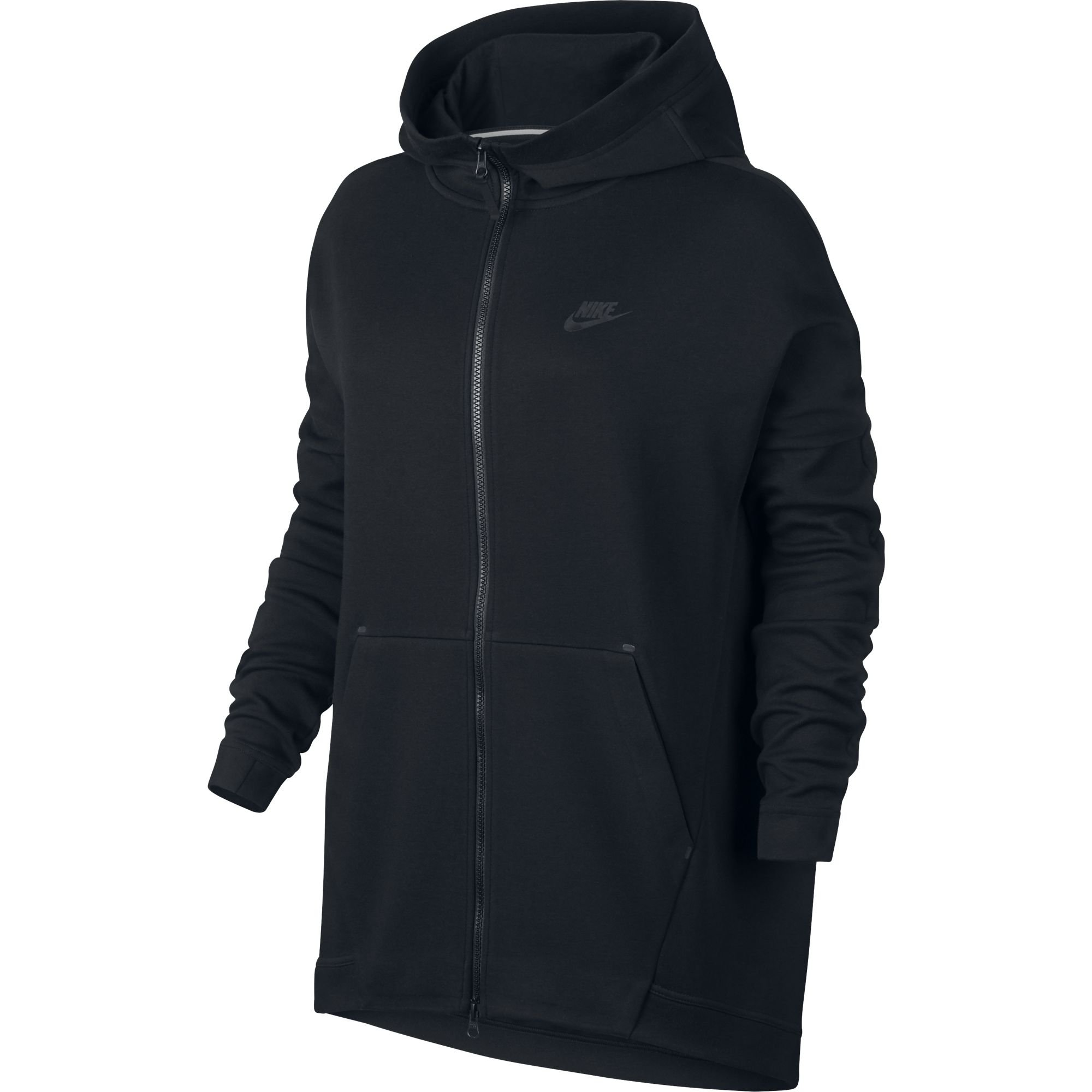 Nike Women's Sportswear Tech Fleece Cape Jacket 811710 (Black/Black, Medium)
