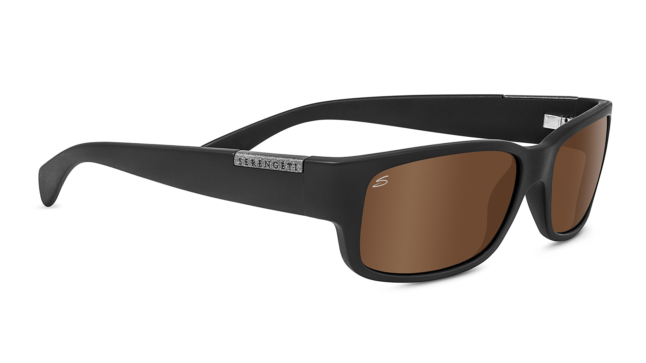 Serengeti 8437-Merano Merano, Satin Black, Polarized Drivers Gold