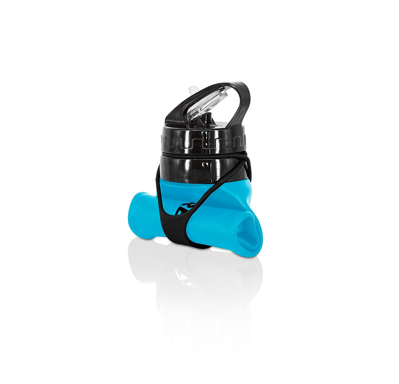 FITBREAKERS Botella Plegable de Agua Reutilizable 600ml para Gimnasio, Deporte, Crossfit, Yoga, Ciclismo, Senderismo, Escalada, Acampada, Libre de BPA: ...