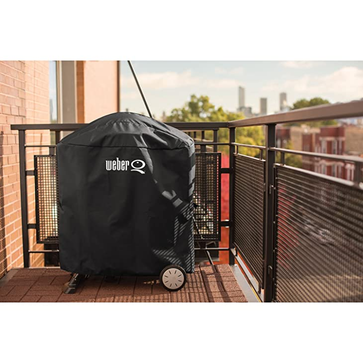 Weber Q 100/1000 and 200/2000 series with QPortable Cart Grill Cover