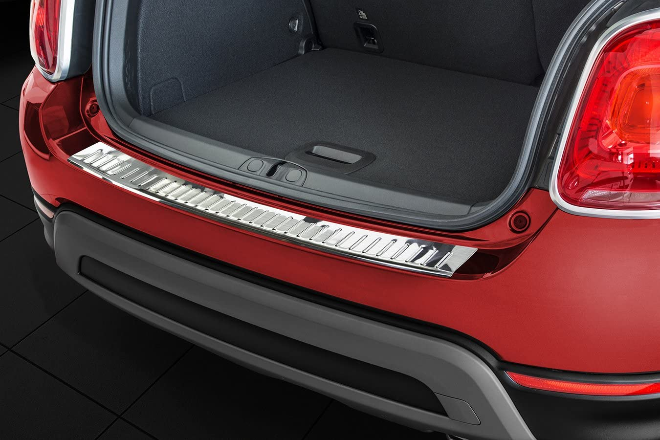 Stainless Steel Rear Bumper Protector Guard ZIC Motorsports 2015-2017 Fiat 500X Crossover