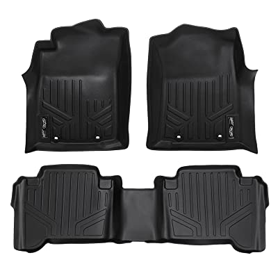 MAXLINER Floor Mats 2 Row Liner Set Black for 2012-2015 Toyota Tacoma Double Cab: Automotive