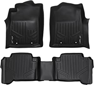 MAXLINER Floor Mats 2 Row Liner Set Black for 2012-2015 Toyota Tacoma Double Cab