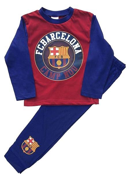Chicos Barcelona Football Club Pijamas dos piezas Edad 4 -12 años (Azul, 4