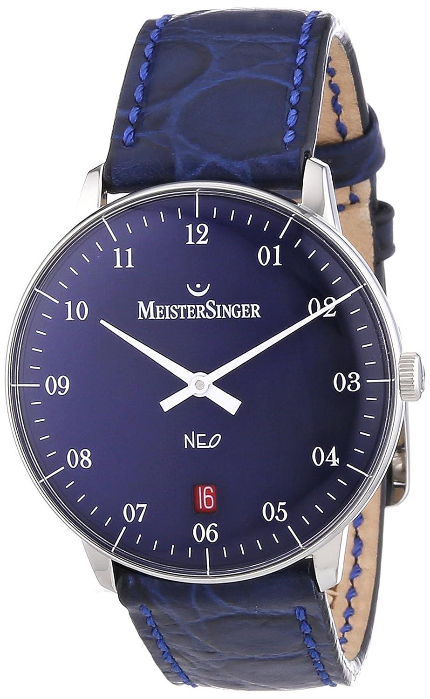 MeisterSinger Unisex-Armbanduhr Neo 2Z AnalogAutomatik Leder NE208