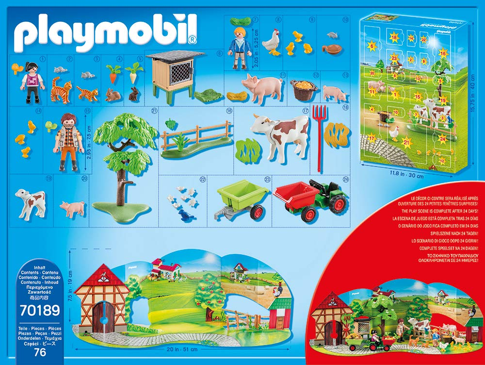 Inhalt Playmobil Adventskalender 2019 70189