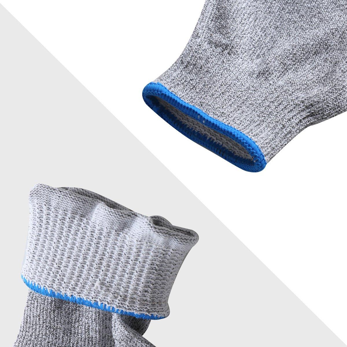 Cut Resistant Gloves IBOWO Kitchen Work Gloves Grey, 1 Pair (Medium) (Medium, Black) (M, BLACK)