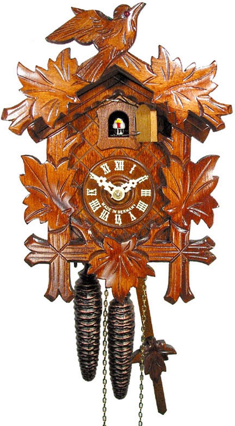 ISDD Cuckoo Clocks batteria inclusa Orologio a cuc/ù della Foresta Nera