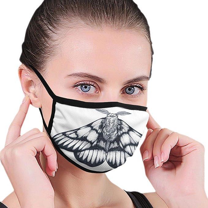 Máscaras bucales Dibujado a Mano Mariposa Tatuaje Dotwork Tatuaje ...