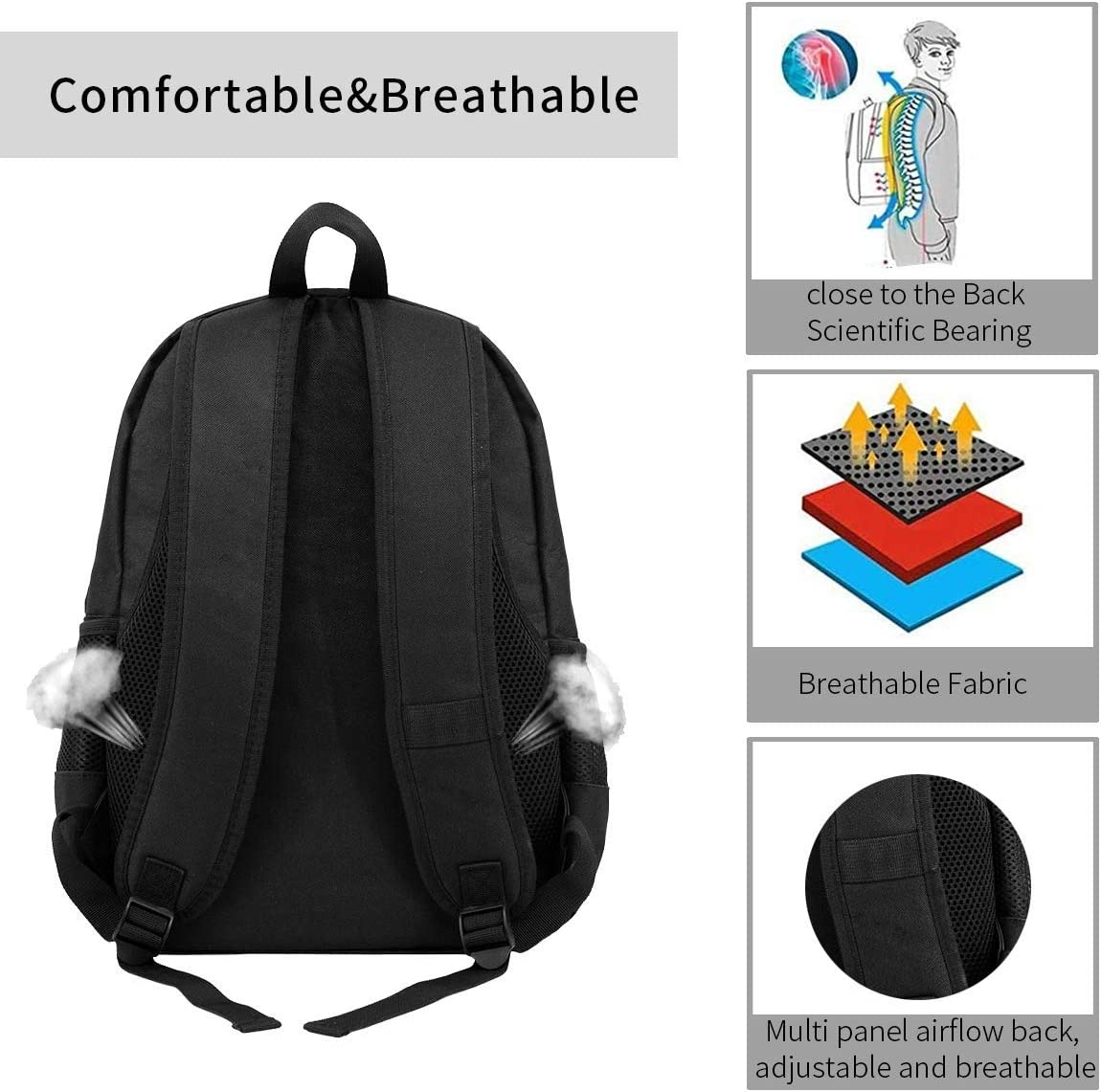 Coffee Time Backpack Laptop College Backpack Durable Laptops Backpack College Computer Bag for Women and Men Fits 15 Inch Laptop