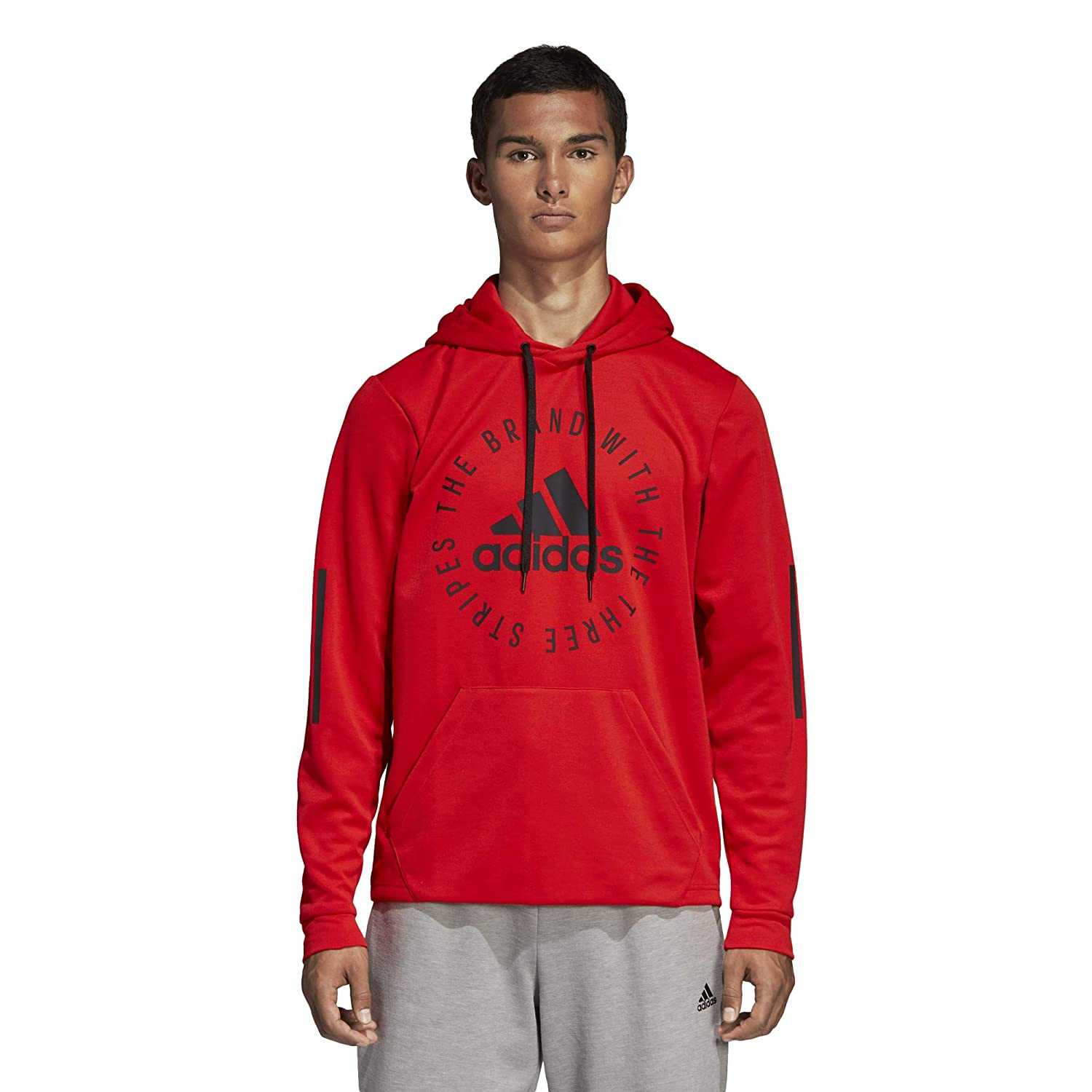 adidas Sport ID Pullover Hoodie SS19 White: Amazon.co.uk