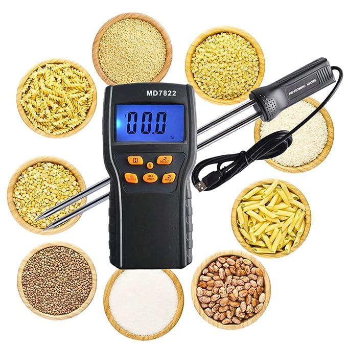 rcyago MD7822 LCD Display Digital Alimentos cereales arroz maíz trigo Medidor de humedad temperatura probador: Amazon.es: Bricolaje y herramientas