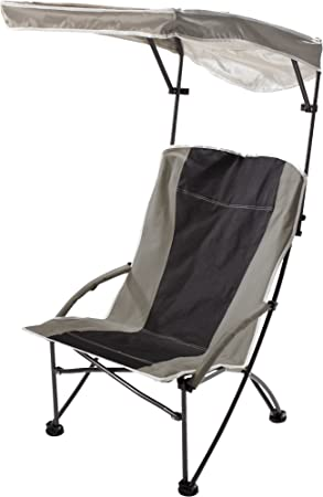 Quik Shade Pro Comfort High Back Shade Folding Chair, Tan Black