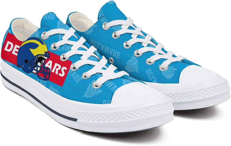 BOINN Mens Low Top Lace Up Skate Canvas Shoe Non Slip Design Workout Walking Sneakers