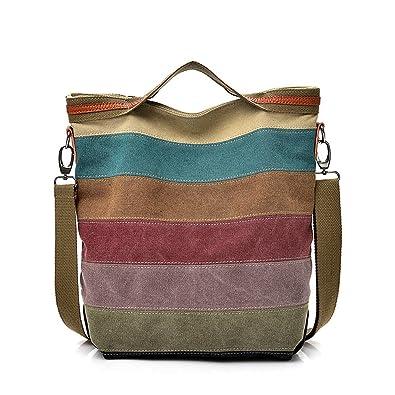 c86464dbd Amazon.com: Leaf2you Handbags for women totes Hobo Shoulder Bags Stripes  Top Handle Bags: Shoes