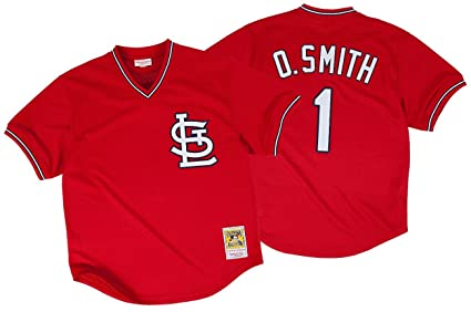 91c108b9e33c Amazon.com   Ozzie Smith St. Louis Cardinals Mitchell   Ness ...