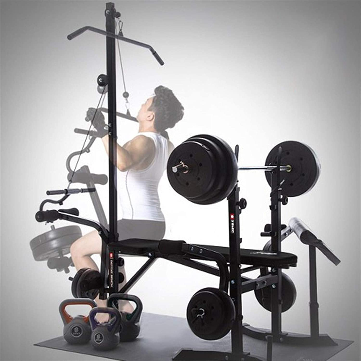 Adjustable Weight Benche Set Multifunctional Weight-Lifting Bed Weight-Lifting Machine Fitness Equipment TANGNADE Olympic Weight Benches