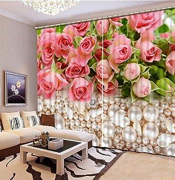 Wapel Custom 3d Rose Pearls 3d Curtains For Children Bedroom 3d