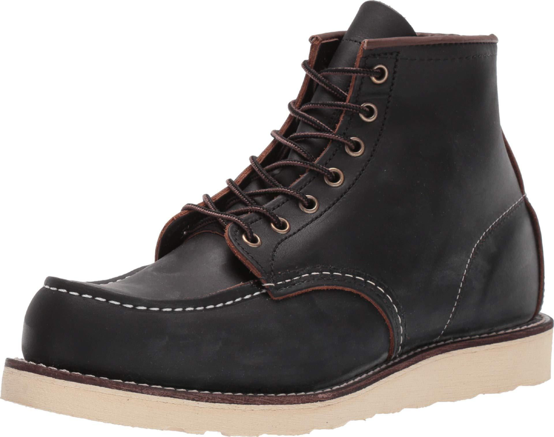 "Red Wing 8849: Men's 6"" Moc Toe Black Prairie Shoe"