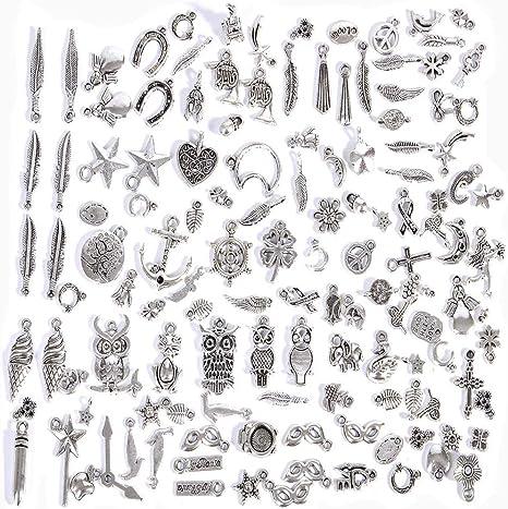 Wholesale 100//200pcs Bulk Lots Tibetan Silver Mix Charm Pendants Jewelry DIY