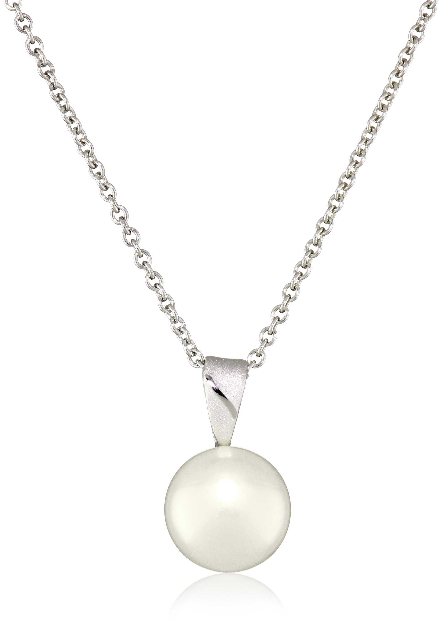 Honora White Freshwater Cultured Pearl 18'' Pendant Necklace and Stud Earrings Set by Honora (Image #2)