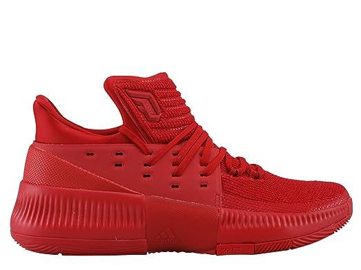 adidas Men's D Lillard 3 Color SCARRED/RED Shoe Men's Basketball Size 11 OR 13